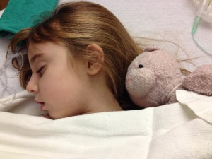Sleeping after her MRI