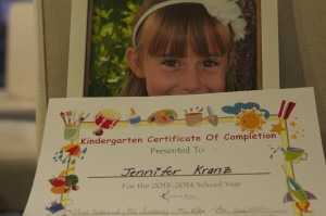 my 6yr old certificate of completing kindergarten..but not really.