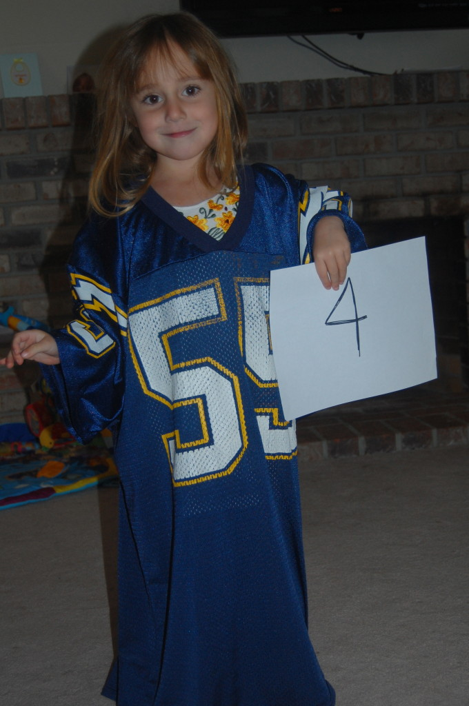 ***Birthday tradition in daddys favorite jersey. 4yr old***