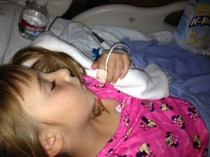 **her first night in the hospital.. the last night before we knew she had a tumor**