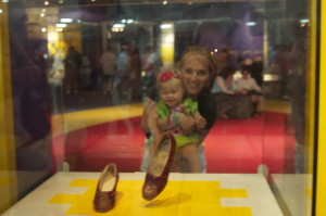 Ruby red slippers. Jennifer loved Wizard of Oz. ..